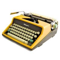 yellow typewriter