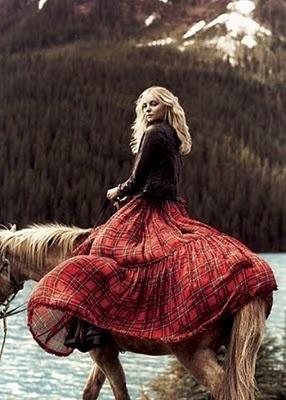plaid horseback