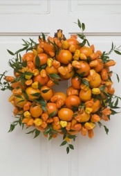 11-1 orange wreath