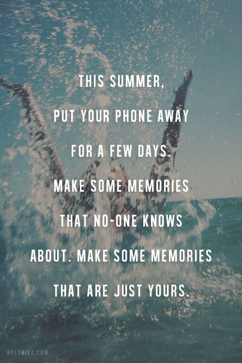 make some memories