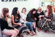 Group couch laugh 2