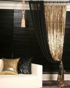 1-2 gold curtain